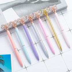 Moda Metal Pen Ball Point Pen Annuncio regalo Pen Butterfly Penna a diamante Crystal Pen