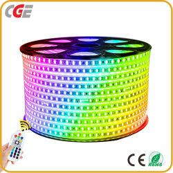 Праздник лампы IP65 5050 LED гибкие газа свет одного цвета белый и теплый белый/зеленый/синий/красный/желтый AC220V 110V светодиодный индикатор каната