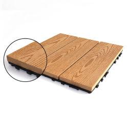 La madera como para uso exterior piso de madera exterior compuesto de plástico de bricolaje madera mosaico (WPC) Placas de revestimientos de exterior a prueba de agua