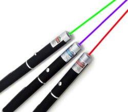 رؤية الليزر 5 ميجاوات باللون الأخضر الأزرق الأحمر DOT، ليزر قوي مناسب مؤشر مع USB