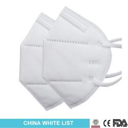 GB2626-2006 Máscara de protección desechables estándar KN95 N95 FFP2 Mascarilla plegable el filtro KN95 Mascarilla