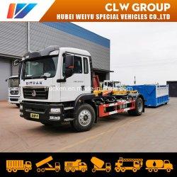 ハイエンド 10 トン 15 トン、セノトルクプルアームフックリフト構造 廃車輸送トラック(油圧カバーガベージボックス付き