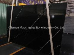 Nero Black Marquina Precio barato Negro y Blanco mármol para Mesa de piso de pared
