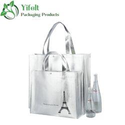 Custom Print Logo Laminated Laser Eco herbruikbaar supermarkt Kruidenierswinkel Promotie Winkelen Non Woven Carry Fabric Tote Cloth Bag for Shopping Bag, Gift Bag