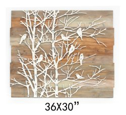 Placa de parede de metal das aves na Arte Ramos Fotos para Decoração de parede Ol-2007149size24X36polegadas