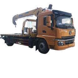 شاحنة سحب مسطحة مسطحة Shacman 4X2 بقدرة 4 أطنان مترين و6طن متري توفر كل منها 7 أطنان مع الرافعة