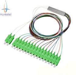 Волоконно-оптический разветвитель 1X 16 PLC - SC/ПОСЛЕ ЗАМКА ЗАЖИГАНИЯ Mini тип трубки FTTH 0,9 мм разветвитель разветвитель с программируемым логическим контроллером в режим с одним разъемом