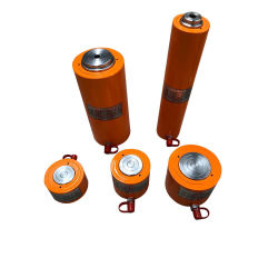 أسطوانة هيدروليكية صغيرة عالية الحمولة أحادية الفعل أحادية الوزن بقدرة 5-100 طن