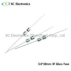 XC 3F 3,6X10mm 125V 250V fusible Fast-Acting tube de verre