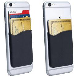 أزياء غير قابلة للتكسر حامل البطاقة المرنة Silicone الهاتف المحمول الخلفي ملحق ملصق لاصق للجيب على الهاتف الخلوي