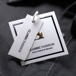 Étiquette de cheveux les faisceaux des autocollants d'enrubannage du papier imprimé Hang Tag pour extension de cheveux perruque Tag