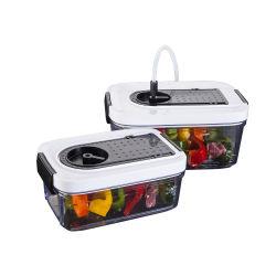 Cuadro de la preservación de vacío de plástico contenedores de alimentos para el almacenamiento de alimentos