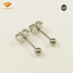 고품질 보석 G23 단단한 티타늄 날카로운 저자극성 공 귀는 Tp2916를 장식용 목을 박는다