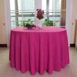 Freies Beispielrunde Polyester-Bankett-Hochzeits-Leinenhotel-Tisch-Tuch-Tischdecke für Hotels