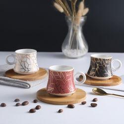 Moderne stijl set keramische cup en saucer-koffiecup met porselein