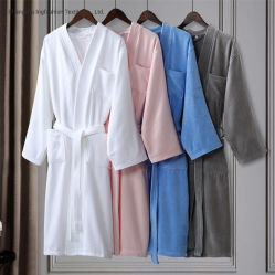 Roupão unissexo para Jantes Kimono Hotel roupão de bambu