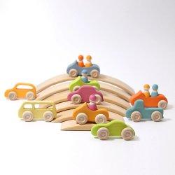 6 [بكس] عبث [سليد ووود] حامل متحرّك سيارات خشبيّة لأنّ أطفال وجدي