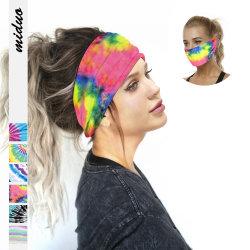 方法Hairbandの屋外スポーツのヘッドバンドの多機能の塵の証拠のデジタル印刷は女性のバンダナを結染める