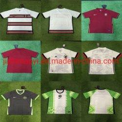 도매 2021 새로운 시즌 나이지리아 국가 팀 홈 어웨이 키트 축구 저지 축구 셔츠 의류 유로 리그 컵