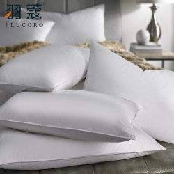 高品質のポリエステル線維のロゴデザインとスリープの状態であることのための満たされたホテルの枕