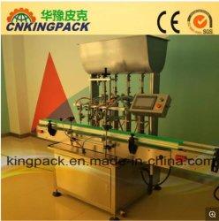Automatisches flüssiges Füllmaschine-Öl-reinigendes Shampoo-desinfizierendes Bleiche-flüssige Seifen-Reinigungsmittel-Ätzmittel-füllende mit einer Kappe bedeckende beschriftenverpackungs-Verpackmaschine