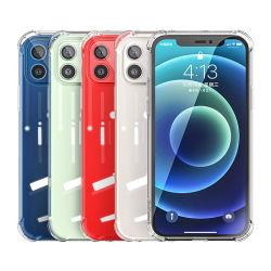 Para iPhone 12 Crystal Clear-Choques telefone caso TPU antichoque Ecológico de tampa de telefone móvel transparente