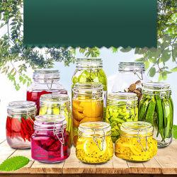 Amostras gratuitas por grosso de armazenamento de comida barata esvazie a jarra de vidro de congestionamento de abelha de mel para a indústria conserveira com tampa de alumínio metálico