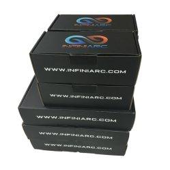 Noir mat personnalisé emballer les boîtes carton pour les produits électroniques
