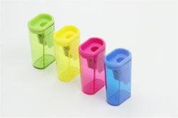 Heißer Verkauf sortierter Farben-Feuerzeug-Form-Bleistiftspitzer mit einzelnen Löchern