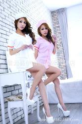 섹시한 간호사 란제리 여성용 병원 핑크 간호사 유니폼 드레스