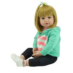 Bebe Reborn Doll 48cm Baby Girl de silicona suave Boneca muñecas Reborn Brinquedos Bonecas Regalos Día del Niño juguetes la hora de dormir Plamates