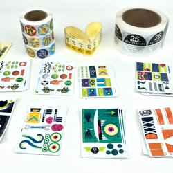 Low MOQ Gift Packaging Seal Sticker Etiketten, zelfklevende papieren Sticker
