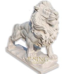 Полированный индивидуальные камня можно дойти пешком из черного мрамора Lion резьба для внешних вилла ворота