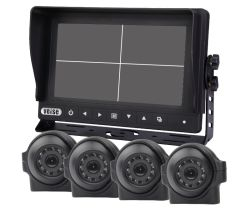 Copia de seguridad de alta definición integrado sistema de cámara HD DVR y Monitor Impermeable IP68