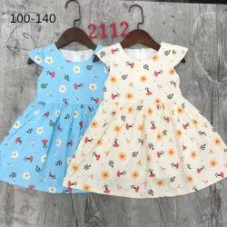 아동복 인쇄된 패턴 소녀의복 여름 면화 드레스 키즈 의류 귀여운 어린이 의류