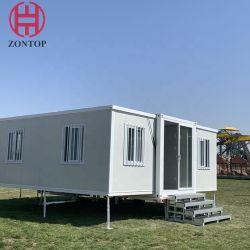 سهل التجميع 20 قدم قابلة للتوسيع بمنزل الحاويات هوليداى هوليدي ويواب فيلا المقصورة كوخ العطلة