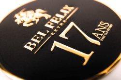 2021 Design Embossed High End Black en Sliver Aluminium Label Voor flessen