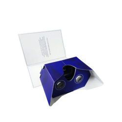 Google marca Juego de auriculares de cartón Vr Realidad Virtual 3D Video gafas Gafas de cartón Folleto Google Vr