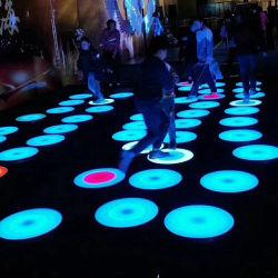 실외 실내 휴대용 플로어 패널 대화형 터치 LED 색상 변경 무대 조명 라운드 댄스 플로어 세일