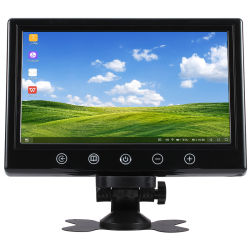 Véhicule 12V 1024x600 résolution grand écran couleur LCD TFT 7 pouces moniteur CCTV Voiture