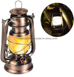 Batería llama cobre antiguo Linterna intermitente
