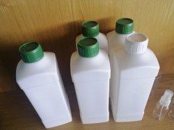 1000ml plastique HDPE Carré Blanc acide du fourreau résistant aux alcalins 1 litre flacon de réactif chimique paquet pesticides
