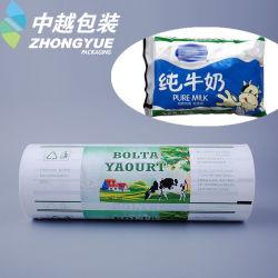 Produtos de plástico material de embalagem de sacos de leite película PE resistente a água Imprimir filme