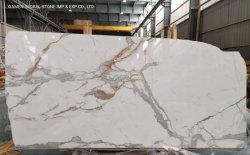 イタリア産カラカッタホワイト / ゴールド / グレー / マable Granite Quartzite Slabs for High End サイズに合わせてプロジェクトをカット
