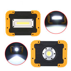 Multifunción y batería recargable de alta potencia LED 10W de luz de trabajo in situ y de la luz de las inundaciones con mango de 180 grados de la luz de trabajo con el Banco de potencia y un trípode Hole