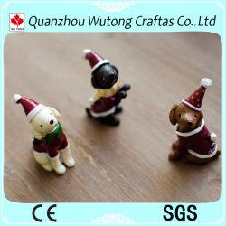 Venda por grosso de fábrica OEM Resina Decoração de Natal Animal Mini Dog