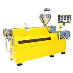 De gebruikte Machine van de Extruder van het Laboratorium van de Schroef van de Apparatuur Enige, de Plastic Apparatuur van de Pelletiseermachine voor RubberPlastiek