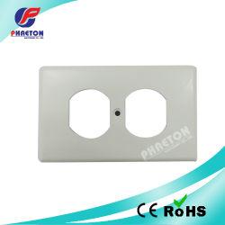 Sicherheits-Stecker-Kontaktbuchse Coversled Wand-Platten-Duplex-Bildschirmoberfläche
