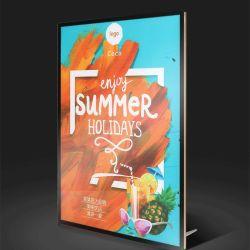"""12.2"""" X16.8"""" A3 LED 광고 조명 박스 레스토랑 메뉴 목록 보드 포스터 프레임"""