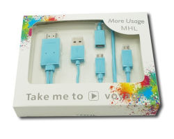 Mhl Micro USB pour adaptateur de câble HDMI HDTV
